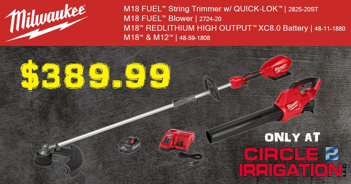 Current Deal - Milwaukee Trimmer and Blower package only $389.99
